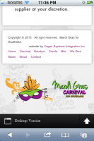 Mardi Gras for Southlake Responsive Website